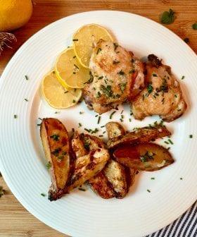 Garlicky Greek Chicken and Potatoes