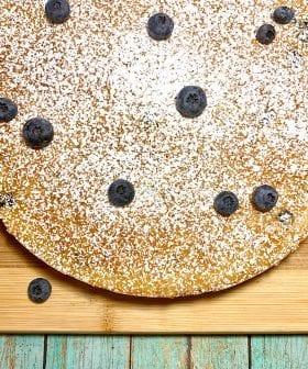 Κέικ ελαιόλαδου Blueberry