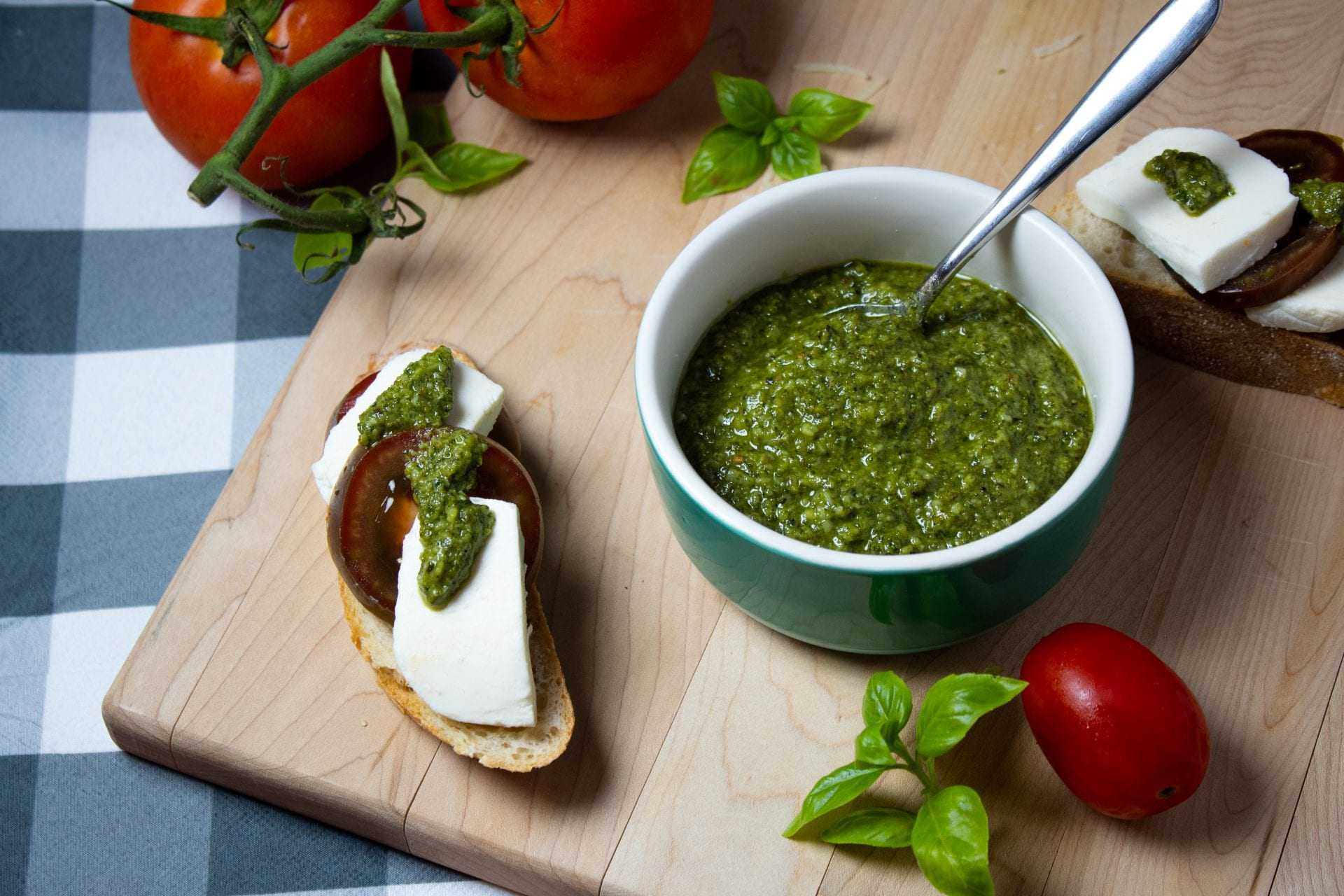 Olive Oil and Basil Pesto with Walnuts and Parmesan