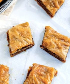 Pistachio and Olive Oil Baklava